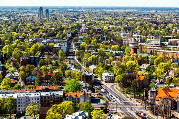 Panoramisch Riga stad buurt Letland Stockfoto © amok