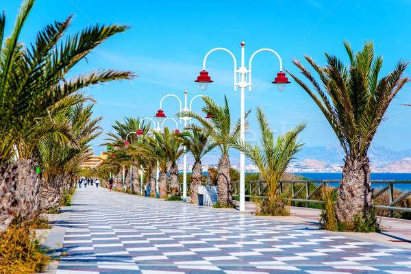 遊歩道 スペイン 人 徒歩 風景 ヨーロッパ ストックフォト © amok