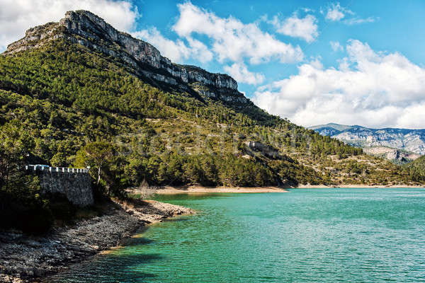 View of the Ulldecona reservoir. Spain Stock photo © amok