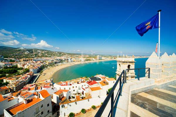 Stad Valencia Spanje hemel water Stockfoto © amok