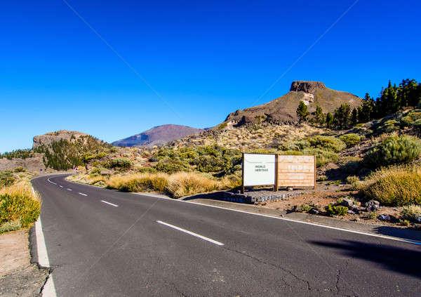 Route volcan tenerife Espagne ciel Photo stock © amok