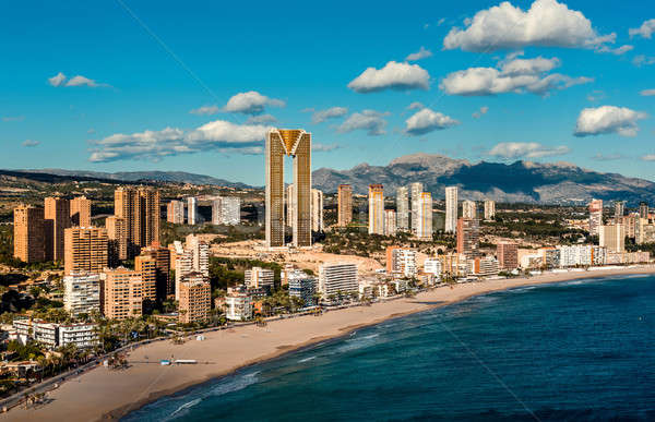 Coastline of a Benidorm city. Benidorm is a modern resort city,  Stock photo © amok