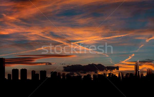 Benidorm skyline at sunset. Costa Blanca, Alicante. Spain Stock photo © amok