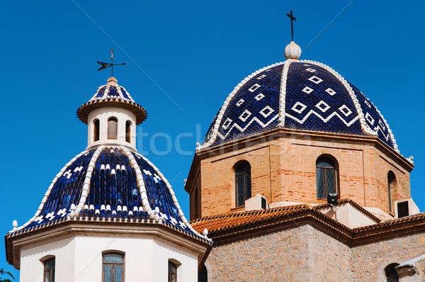 Maagd stad Spanje kerk gebouw Blauw Stockfoto © amok