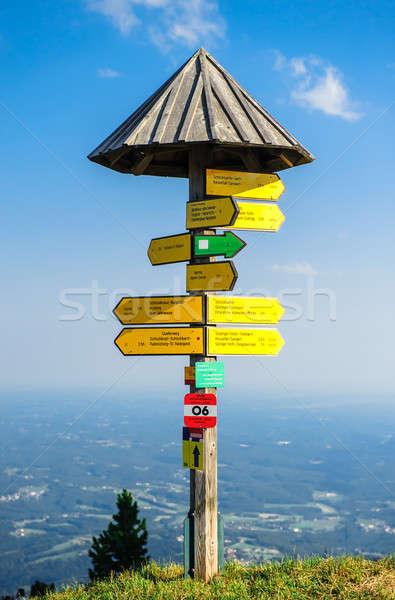 Photo stock: Touristiques · panneau · bord · montagne · Graz · Autriche