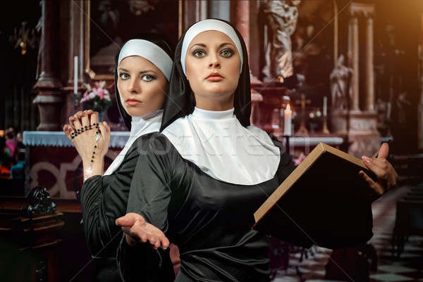 Two attractive young nuns  Stock photo © amok