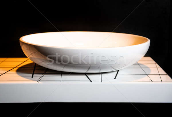 Modern ceramic white washbasin  Stock photo © amok