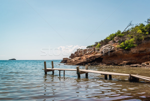 Nudist beach. Ibiza. Balearic Islands, Spain Stock photo © amok