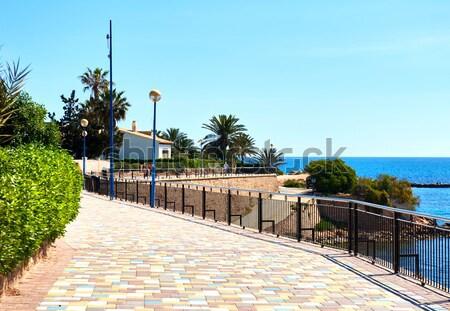 Charakteristisch spanisch Wohn- Häuser Schwimmbad Haus Stock foto © amok
