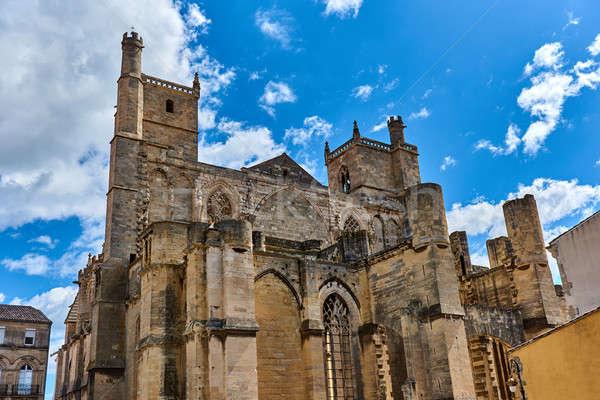 Katedrális Franciaország város dedikált lelkész épület Stock fotó © amok