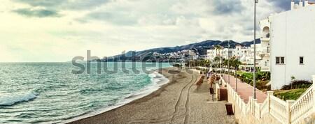 Beira-mar Turquia cidade natureza mar montanha Foto stock © amok
