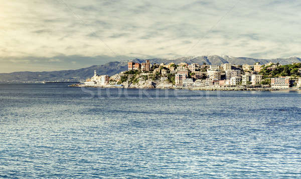 View of Genova. Largest Italian port city Stock photo © amok
