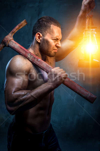 Photo stock: Musculaire · homme · mains · lumière