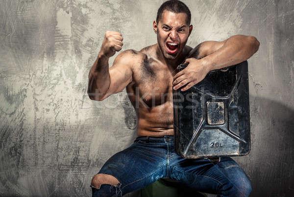 мышечный человека металл топлива можете Сток-фото © amok