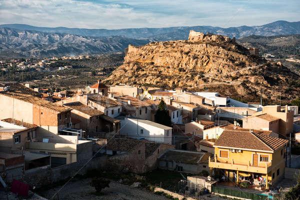 Castle of Busot city. Alicante province. Spain Stock photo © amok