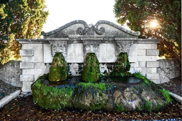 Lourmarin fountain. France Stock photo © amok