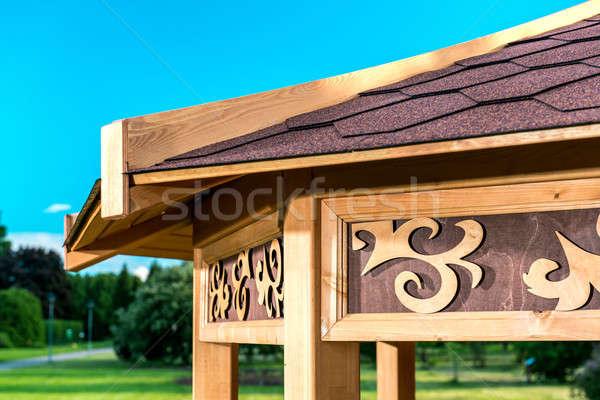 Outdoor houten hemel gras natuur zomer Stockfoto © amok