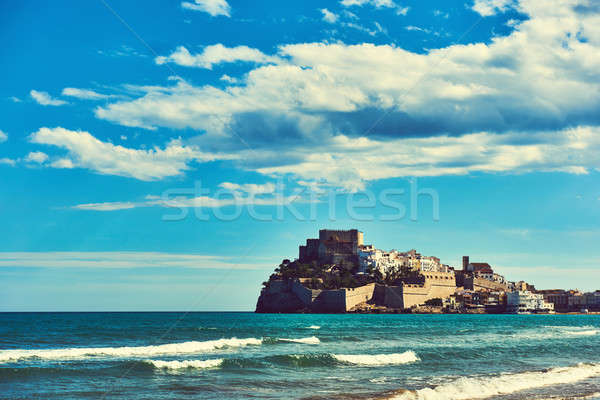 Castillo del Papa Luna. Spain Stock photo © amok