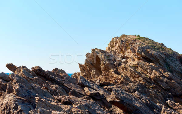 Rocky coast of Cartagena. Murcia. Spain Stock photo © amok