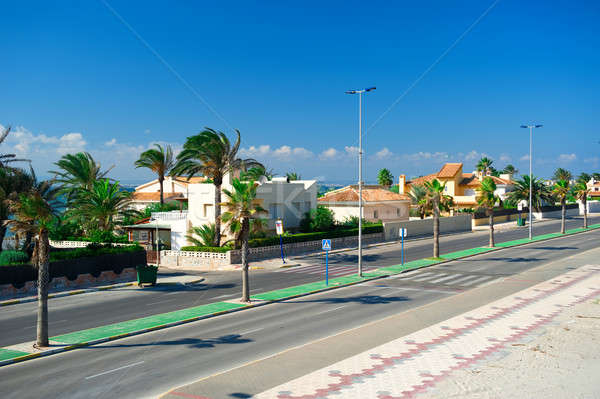 La manga algemeen uitzicht op straat Spanje hemel Stockfoto © amok