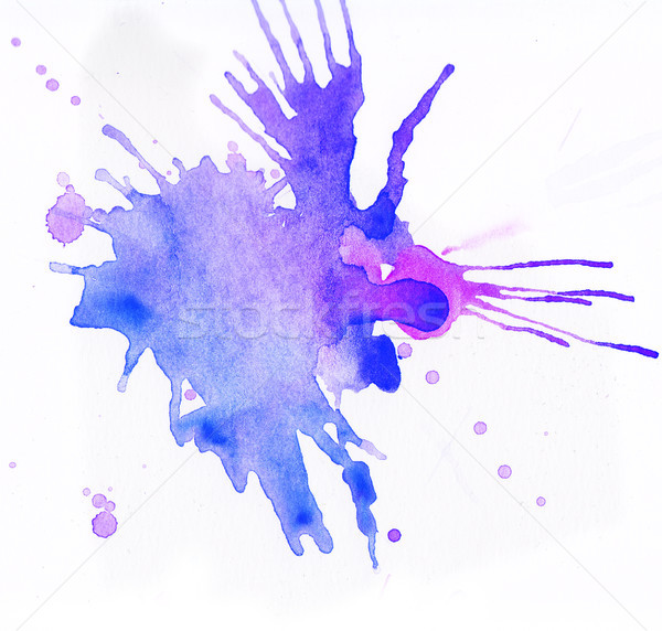 Colorful watercolor splashes over white background Stock photo © amok