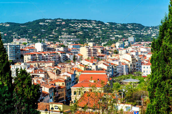 Panoramic aerial view of Cannes city, France Stock photo © amok