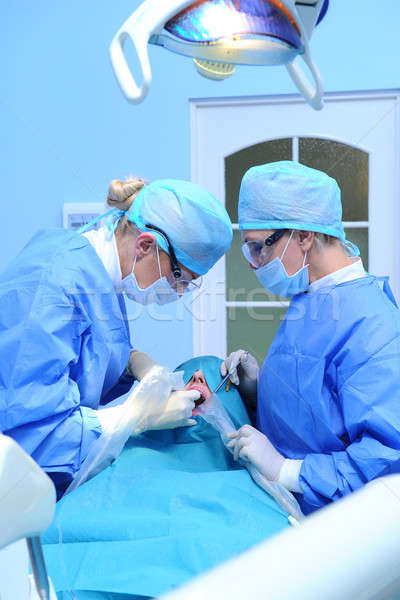 Dental implantation procedure Stock photo © amok