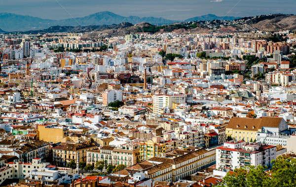 Malaga cityscape. Andalusia, Spain Stock photo © amok
