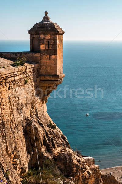 Kale şehir İspanya akdeniz deniz Stok fotoğraf © amok