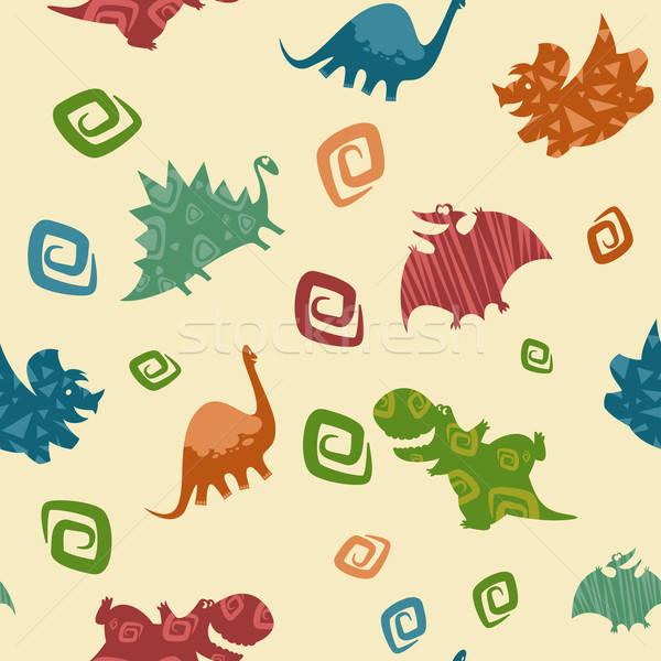 Dino Baby pattern Stock photo © Amplion