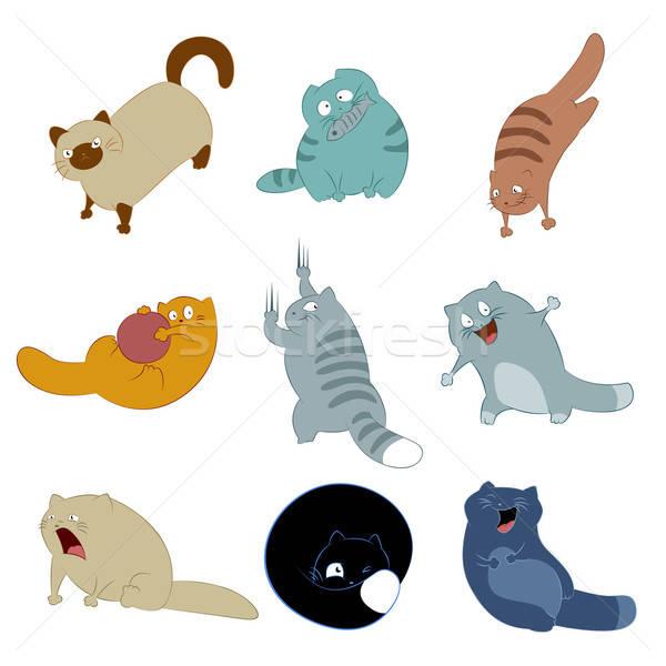 コレクション 猫 アイコン ベクトル 画像 コンピュータ ストックフォト © Amplion