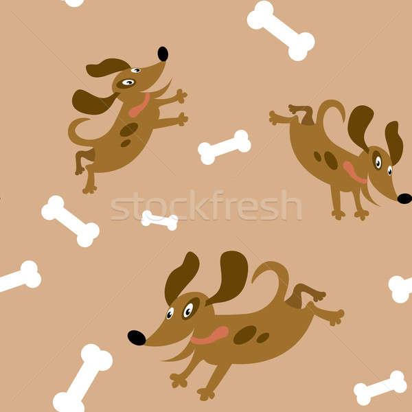 собаки вектора изображение продовольствие дизайна Сток-фото © Amplion