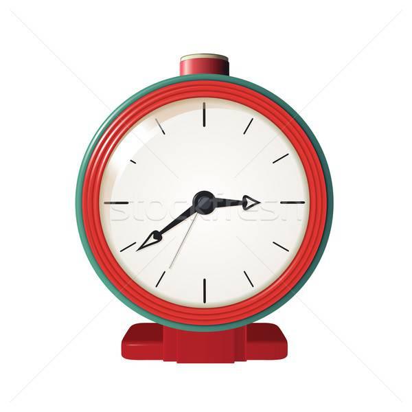 будильник вектора изображение металл красный зеленый Сток-фото © Amplion