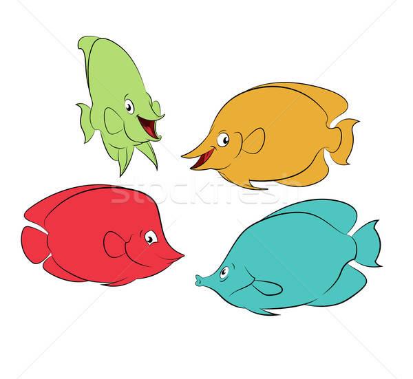 Color fishes Stock photo © Amplion