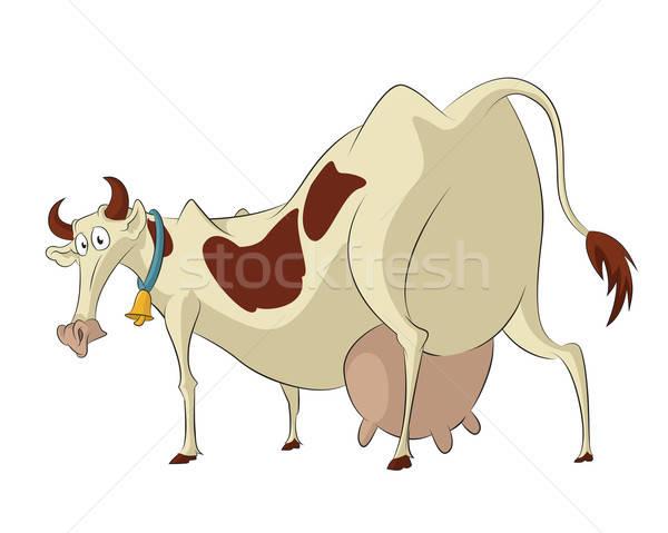 смешные корова вектора изображение Cartoon печально Сток-фото © Amplion