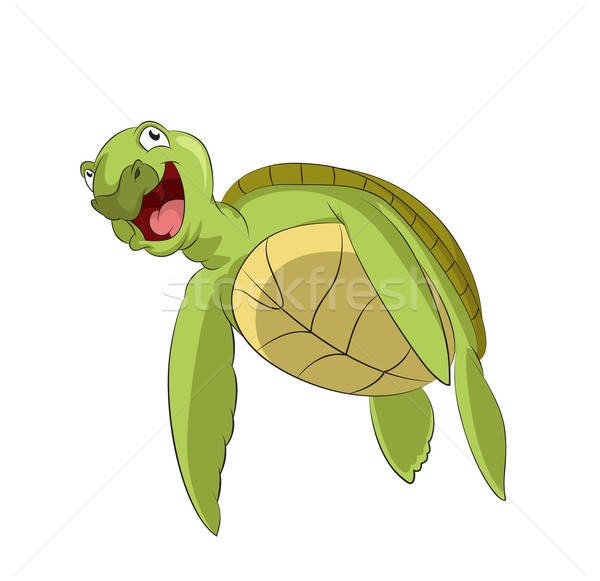 Cartoon turtle Stock photo © Amplion