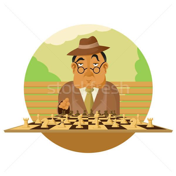 шахматам игрок вектора изображение Cartoon стороны Сток-фото © Amplion
