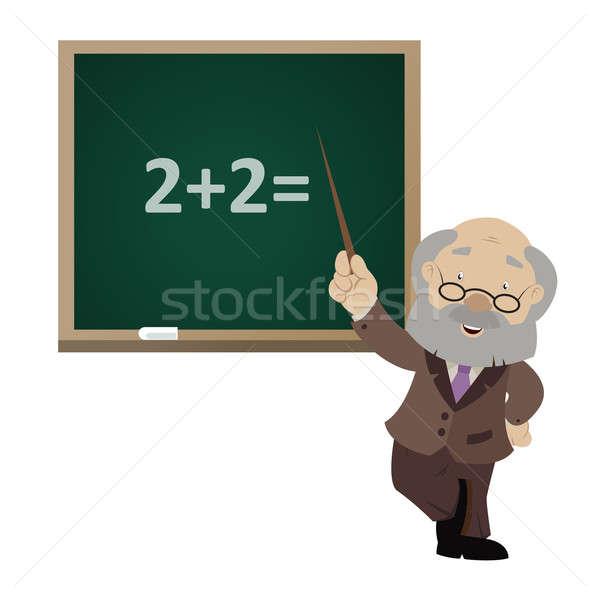 ベクトル 画像 漫画 笑みを浮かべて 教師 コンピュータ ストックフォト © Amplion