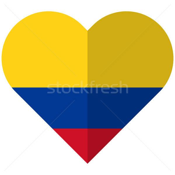 Колумбия сердце флаг вектора изображение дизайна Сток-фото © Amplion