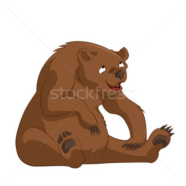 несут вектора изображение смешные Cartoon Бурый медведь Сток-фото © Amplion