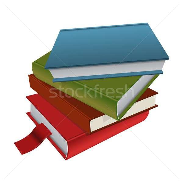 книгах вектора изображение знак чтение Сток-фото © Amplion