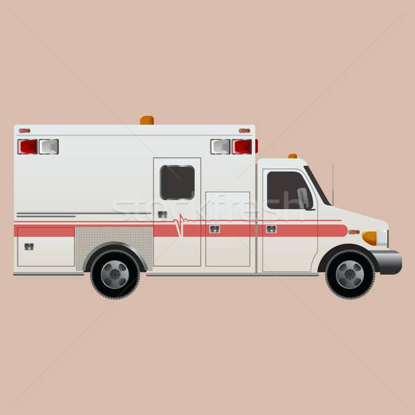救急 ベクトル 画像 白 車 医師 ストックフォト © Amplion