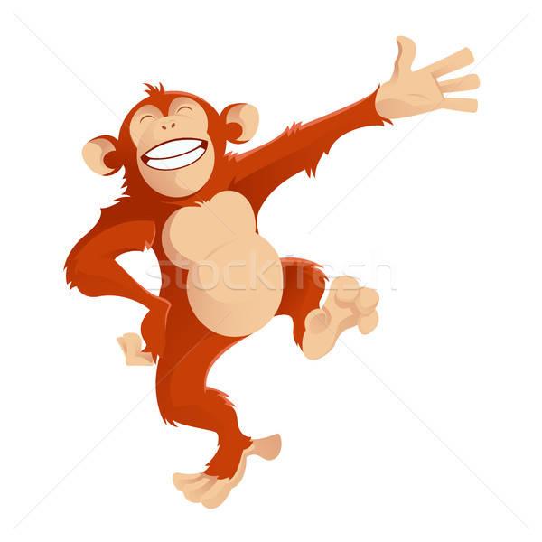 Greetig monkey Stock photo © Amplion