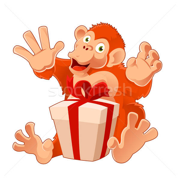 обезьяны настоящее вектора изображение компьютер искусства Сток-фото © Amplion
