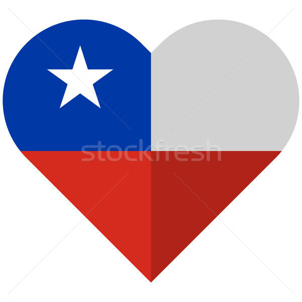 Chile flat heart flag Stock photo © Amplion