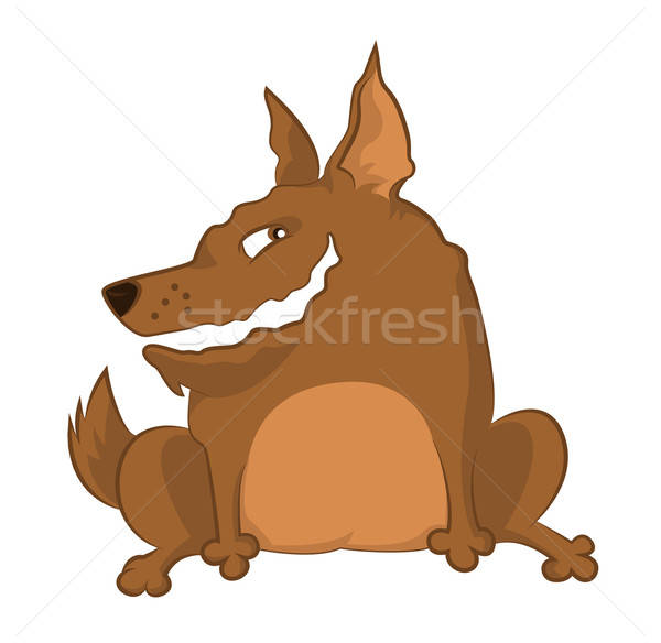 犬 ベクトル 画像 ブラウン 笑みを浮かべて 漫画 ストックフォト © Amplion