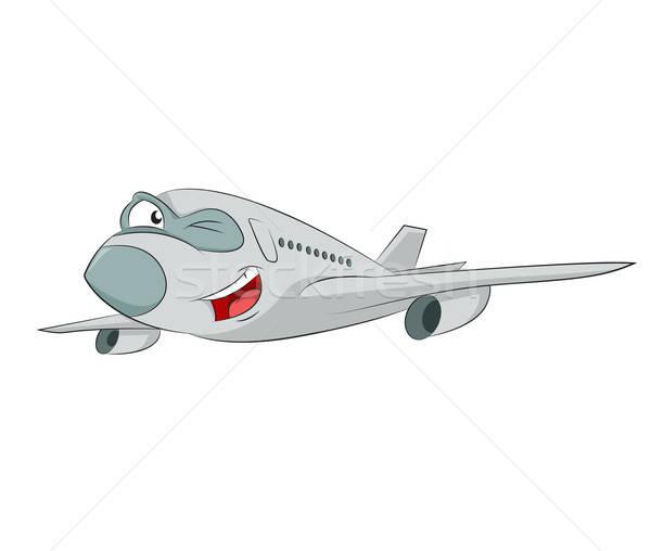 Cartoon avion vecteur image drôle souriant Photo stock © Amplion