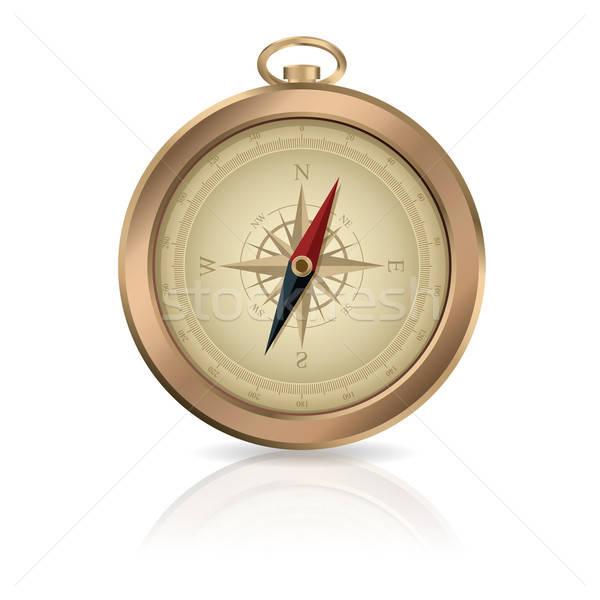Bússola vetor imagem ouro brilhante arte Foto stock © Amplion
