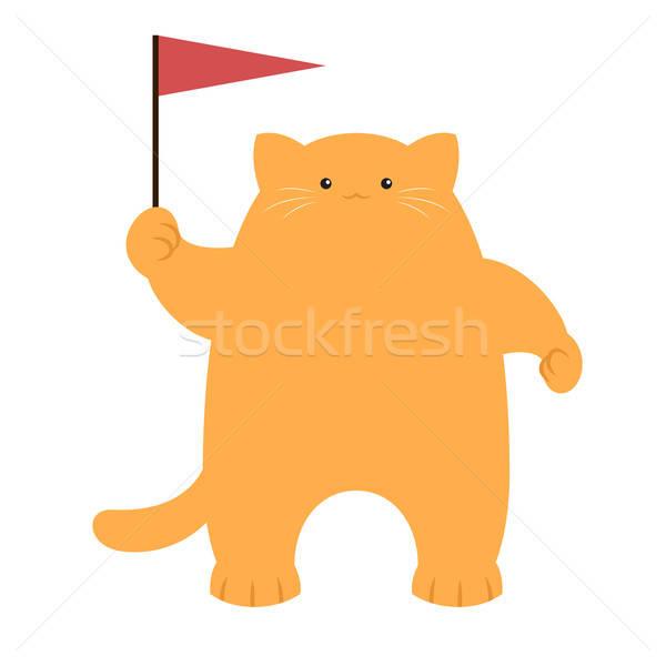 猫 フラグ ベクトル 画像 デザイン 楽しい ストックフォト © Amplion