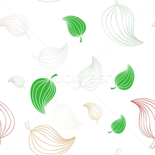 Seamless pattern with leaves Stock photo © Amplion